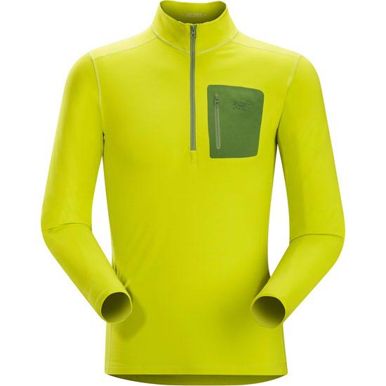 Arc'teryx Rho Lt Zip Neck - Genepi Green