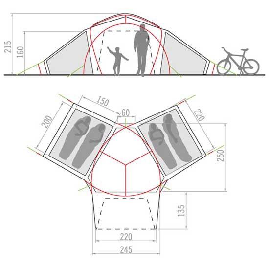 Vaude Badawi 4P - Photo of detail