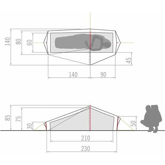 Vaude Lizard Gul 1P - Photo of detail