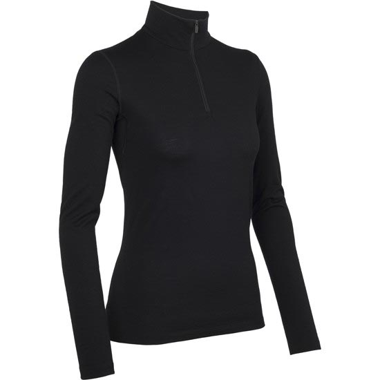 Icebreaker Oasis Long Sleeve Half Zip W - Black