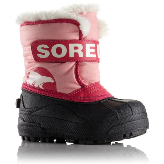 Sorel Snow Commander Childrens - Coral Pink/Bright Rose