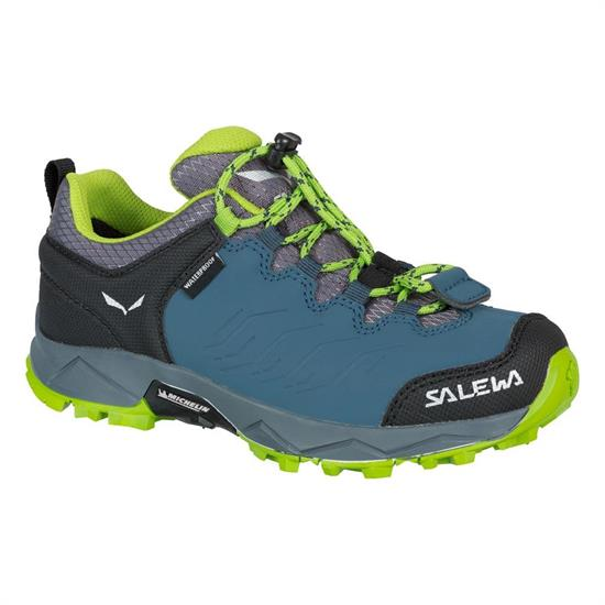 Salewa Mtn Trainer Wp Jr - Dark Denim/Cactus