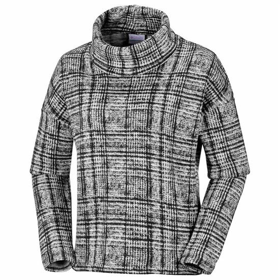 Columbia Chillin Fleece Pullover W - Black Plaid Prin