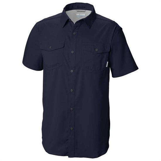 Columbia Utilizer Ii Solid Ss Shirt Collegiate na - Collegiate Navy