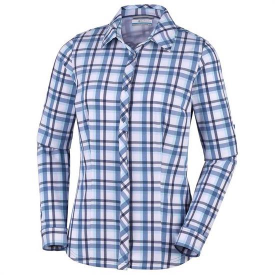 Columbia Saturday Trail Plaid Shirt W - Blue Dust