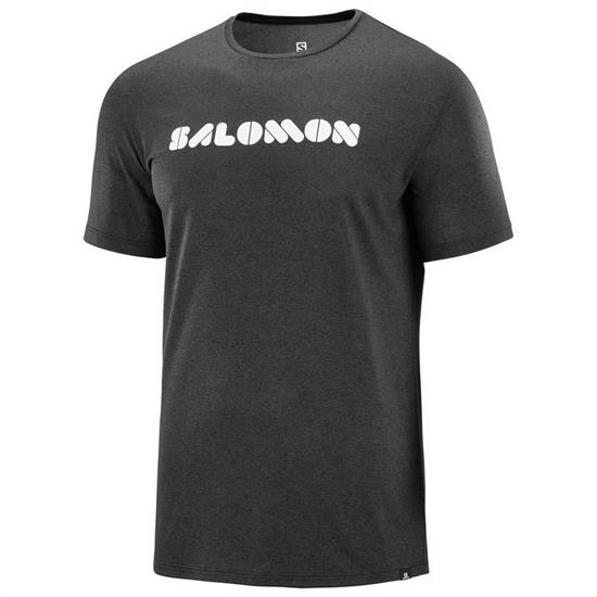 Salomon Agile Graphic Tee - Black/Ebony