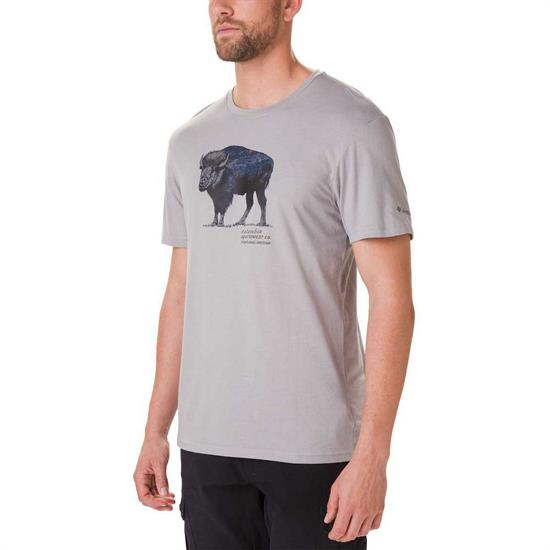 Columbia Muir Pass Ss Graphic Tee - Columbia Grey