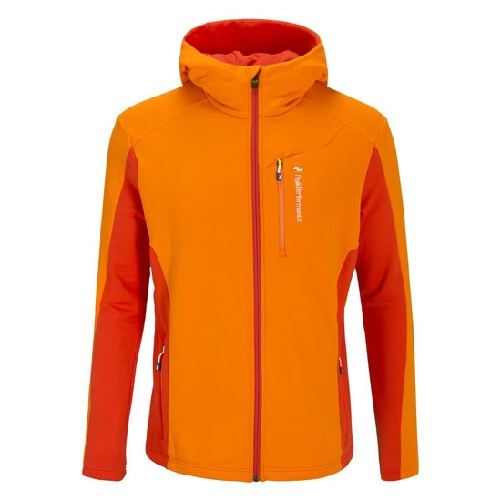 Peak Performance Trigger Zipped Hooded Mid -Layer - Calendula