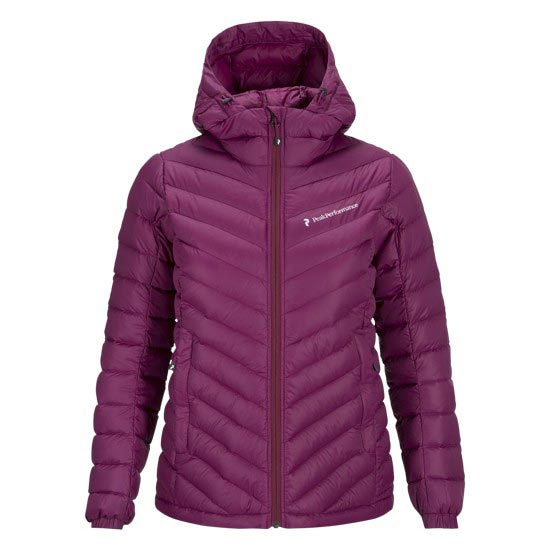 Peak Performance Frost Down Hooded Jacket W - Dk Orchid