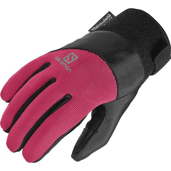 Salomon Thermo Glove W - Black/Lotus