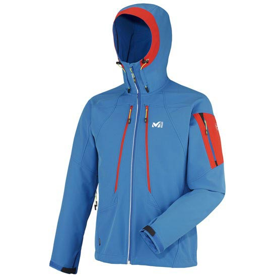 Millet Toring Shield Jkt - Blue/Red