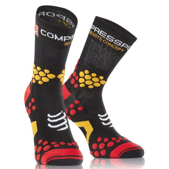 Compressport Racing Socks V2.1 Trail HI - Black/Red
