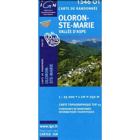 Ed. Ign France Mapa Oloron Ste Marie -
