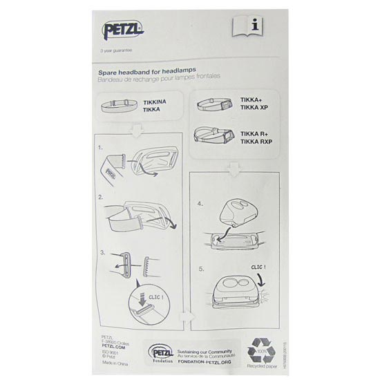 Petzl Cinta Tikka R+ Tikka Rxp - Photo de détail