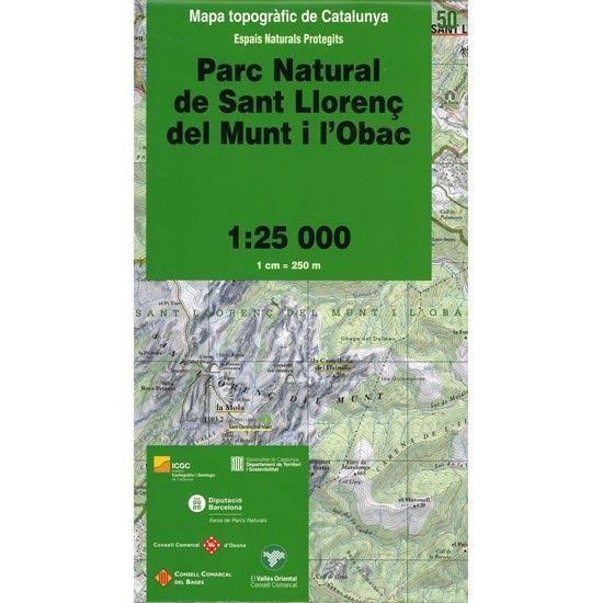 Icc (catalunya) Mapa Parque Natural Sant Llorenç de Munt 1:25000 -
