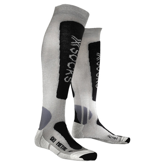 Xsocks Ski Metal - Silver/Anthracite