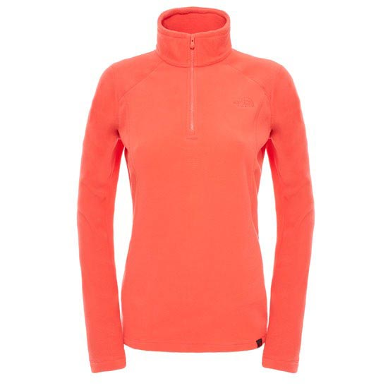 The North Face 100 Glacier 1/4 Zip W - Melon Red