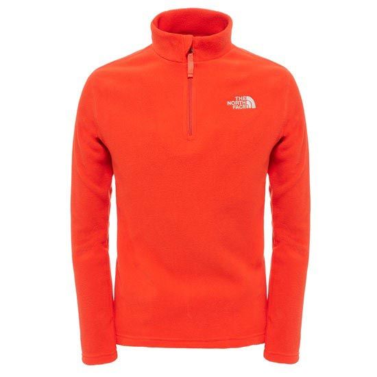 The North Face Glacier 1/4 Zip Jr - Fiery Red
