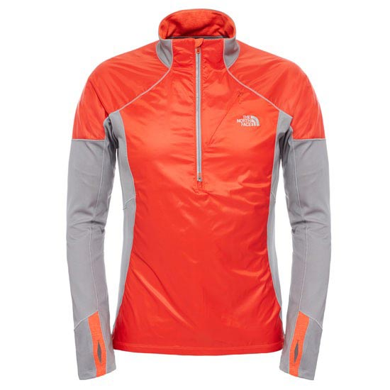 The North Face Isotherm 1/2 Zip - Acrylic Orange/Monument Grey Heather