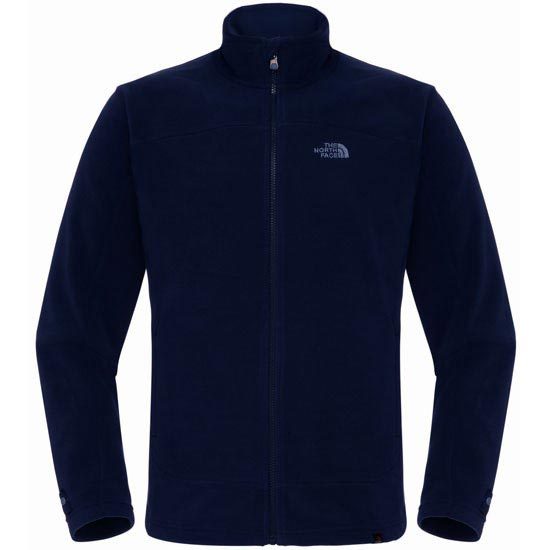 The North Face 100 Glacier Full Zip - Cosmic Blue/High Rise Grey