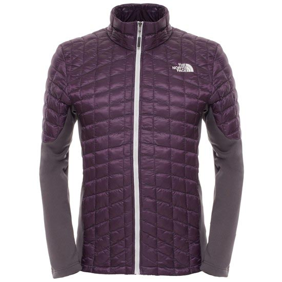 The North Face Momentum Thermoball Hybrid Jacket - Dark Eggplant Purple/Asphalt Grey