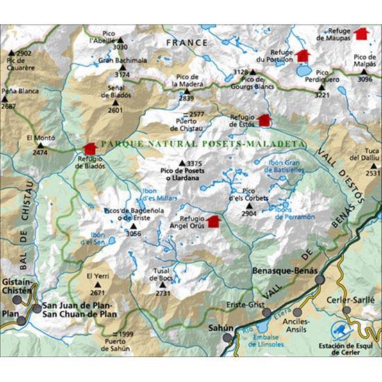 Ed. Alpina Mapa Posets Perdiguero E25 - Photo of detail