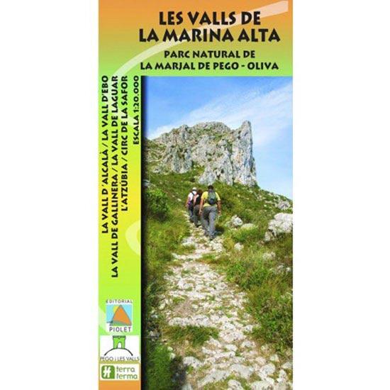Ed. Piolet Mapa Valls Marina Alta 1:20000 -