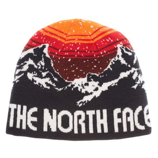 The North Face Youth Anders Beanie - Black/Secuoia Red