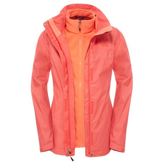 The North Face Evolve II Triclimate Jacket W - Melon Red
