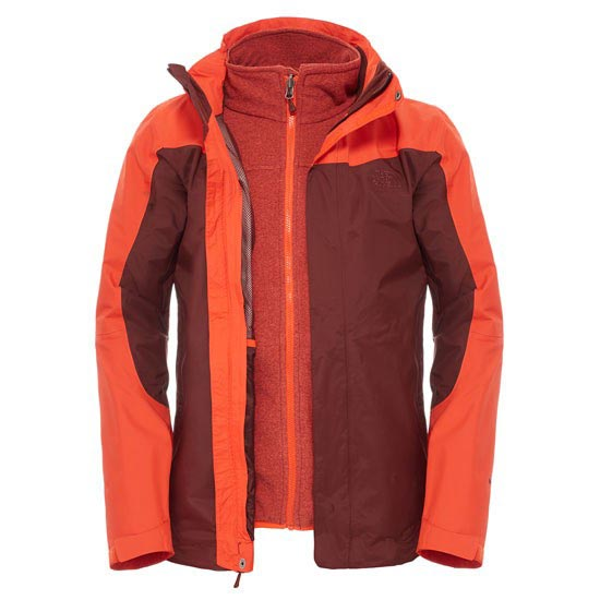 The North Face Zephyr Triclimate Jacket - Sequoia Red/Acrylic Orange