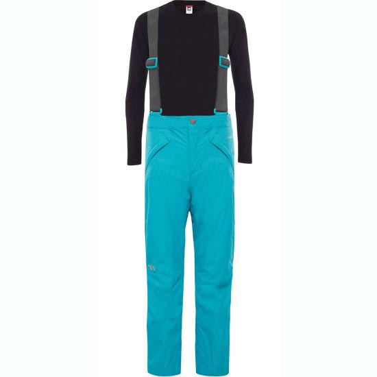 The North Face Snowquest Suspender Pant Girls - Kokomo Green