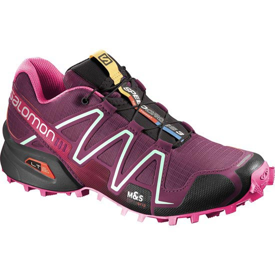 Salomon Speedcross 3 W - Bordeaux/Hot Pink