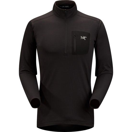 Arc'teryx Rho Lt Zip Neck - Black