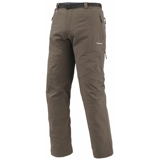 Trangoworld Pantalon Long Alym - Marrón Bungee/Antracita