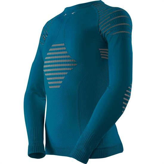 X-bionic T-Shirt Ls Invent 4.0 Jr Teal Bl/Anthr - A010