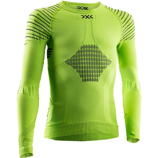 X-bionic T-Shirt Ls Invent 4.0 Jr Grn Lime/Blk - E173