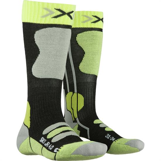 Xsocks Ski Jr 4.0 Anth Melange/Green Lime - G281