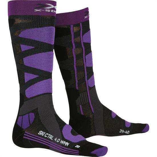 Xsocks Ski Control 4.0 Ws Charcoal Mel/Purple - G079