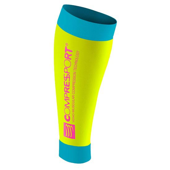 Compressport Calf R2 - Fluo Yellow