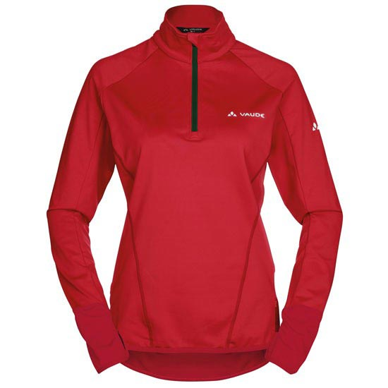 Vaude Livigno Halfzip W - Flame/Indian Red