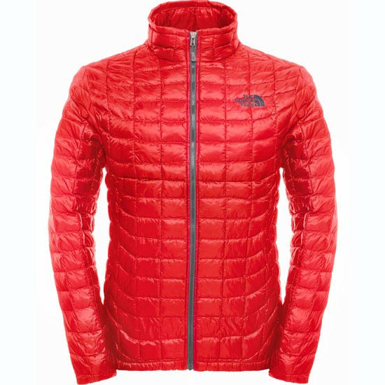 The North Face Thermoball Full Zip Jacket - TNF Red/Asphalt Grey