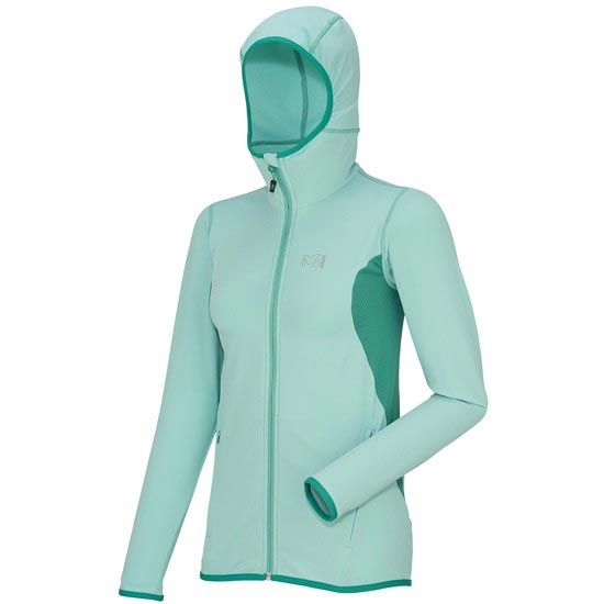 Millet Tech Stretch Light Hoodie W - Green Light