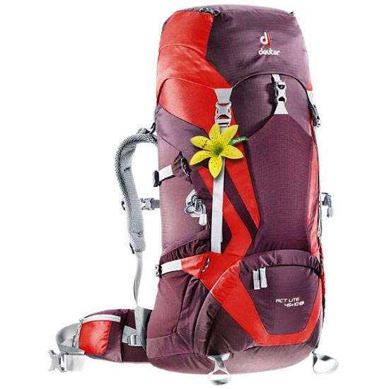 Deuter Act Lite 45+10 W - Aubergine/Fire