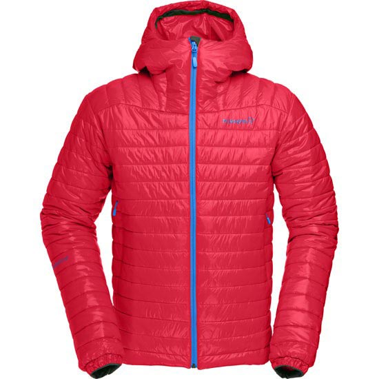 Norrona Falketind PrimaLoft100 Hood Jacket - Rebel Red