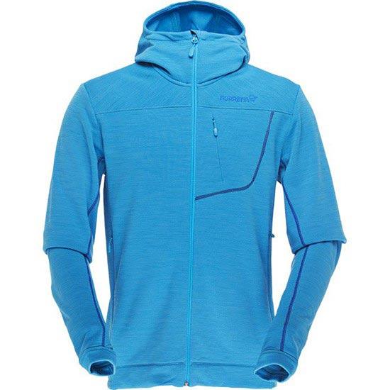 Norrona Bitihorn Powerstretch Zip-Hood - Caribbean Blue