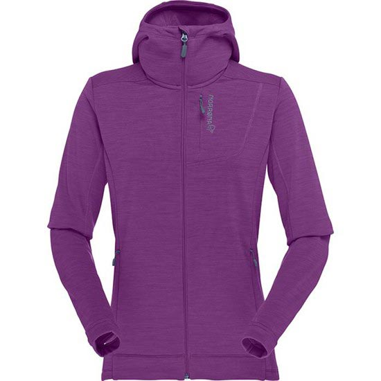 Norrona Bitihorn Powerstretch Zip-Hood  W - Purple Rain