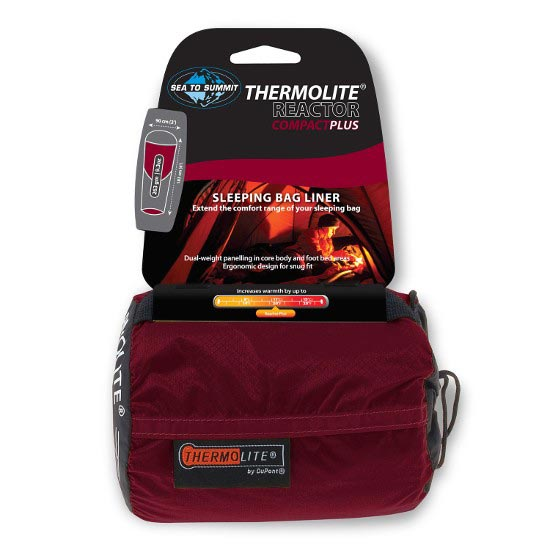 Sea To Summit Thermolite® Reactor Compact Plus Liner - Black/Red