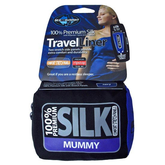 Sea To Summit Silk Stretch Liner-Mummy - Azul