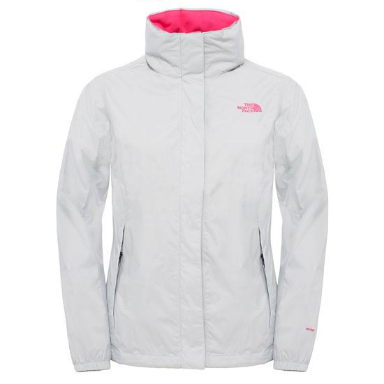 The North Face Resolve Jacket W - High RiseGrey/Glo Pink