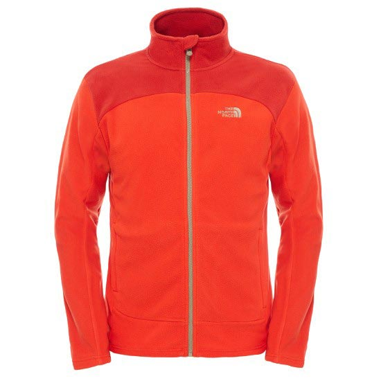 The North Face 100 Glacier Full Zip - Fiery Red/Pompeian Red